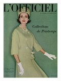 L'Officiel, March 1961 - Tailleur de Christian Dior en Tilfiz de Lesur Prints by Roland de Vassal