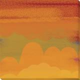 Mood of Orange Stretched Canvas Print