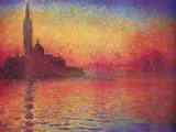 San Giorgio Maggiore by Twilight, Dusk in Venice, c.1908 Prints by Claude Monet