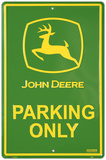 John Deere Parking Tin Sign