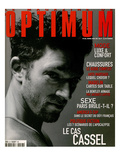 L&#39;Optimum, April-May 1999 - Vincent Cassel Porte un Tee-Shirt Col V en Coton Chin&#233; Calvin Klein Prints by Antonio Spinoza