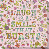 A Laugh Is a Smile That Bursts Stretched Canvas Print