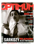 L'Optimum, June-July 2003 - Nicolas Sarkozy Art by Raymond Depardon