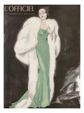 L'Officiel, December 1946 - Ensemble de L. Mendel Plakater af Mourgue
