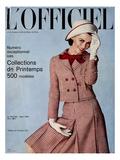L'Officiel, March 1964 - Tailleur de Christian Dior Kunst van  Guégan