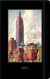 New York Vintage Postcard - 2013 Planner Calendars