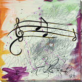Feel The Music Music Notes Stretched Canvas Print