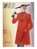 L'Officiel, March 1938 - Nina Ricci Premium Giclee Print by  Lbenigni