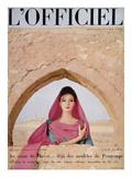 L'Officiel - Robe de Grès en Doupion de Soie de Pétillault Poster by Roland de Vassal