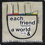 Each Friend Hand Stretched Canvas Print