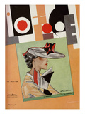 L&#39;Officiel, April 1935 - Le Monnier Poster by S. Chompr&#233; &amp; A.P. Covillot
