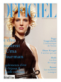 L'Officiel, 2004 - Uma Thurman Premium Giclee Print by David Ferrua