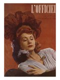 L'Officiel, January 1944 Poster by  Lbenigni