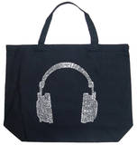 Headphones - Music Genres Tote Bag