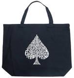 Spade - Winning Poker Hands Tote Bag