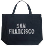 San Francisco Neighborhoods Tote Bag