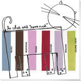 Le Chat Stretched Canvas Print by  KOCO