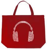 Headphones - Music Genres Tote Bag