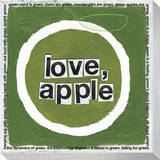 Love Apple Stretched Canvas Print