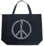 Broken Peace Symbol Tote Bag