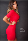 Stephanie Salaz Red Dress Photo Poster by Mario Brown Photo