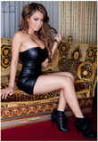 Regina Pacheco Leather Dress Photo Poster by Mario Brown Prints