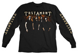 Long Sleeve: Testament - Logo Photo T-Shirts