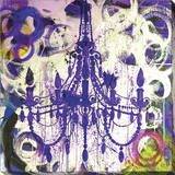 Purple Chandelier Stretched Canvas Print