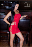 Melissa Riso Red Dress Photo Poster by Mario Brown Prints
