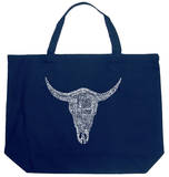 Cowskull - Country Song Titles Tote Bag
