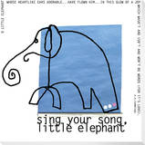 Little Elephant Song Stretched Canvas Print by  KOCO