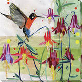 Hummingbird Stretched Canvas Print