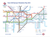 Limited Edition Team GB 2012 Medalist Map w/Certificate Limitierte Auflage
