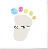 Do-Re-Mi Footprint Stretched Canvas Print by  KOCO