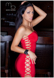 Melissa Riso Red Dress Photo Poster by Mario Brown Bilder