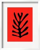 Feuille Noire Sur Fond Rouge, c.1947 Posters by Henri Matisse