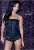 Gabrielle Peterson Black Corset Photo Poster by Mario Brown Prints