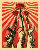 Guns and Roses Obey Art Print Poster Poster