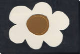 Black Flower Stretched Canvas Print