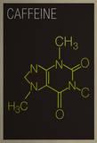 Caffeine Molecule Art Print Poster Posters