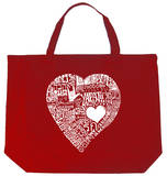 Heart - Love Different Languages Tote Bag