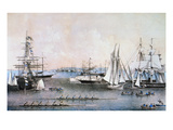 Summer Scene in NY Harbor Prints by  Currier & Ives