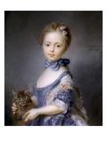 Perronneau: Girl, 1745 Giclee Print by Jean-Baptiste Perronneau
