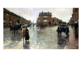 Hassam: Rainy Boston, 1885 Giclee Print by Childe Hassam