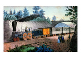 The Express Train, c1849 Giclee Print by Nathaniel Currier