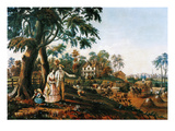 Summer Country Life, 1855 Giclee Print by Nathaniel Currier