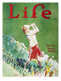 Golfing: Magazine Cover Giclee Print by Garrett Price
