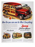 Jeep Station Wagon, 1947 Giclee Print