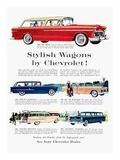 Station Wagon Ad, 1955 Print