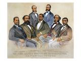 Black Senators, 1872 Print by  Currier & Ives